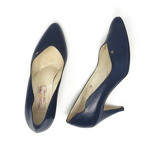 Etienne Aigner | Vintage Navy Blue Leather Heels